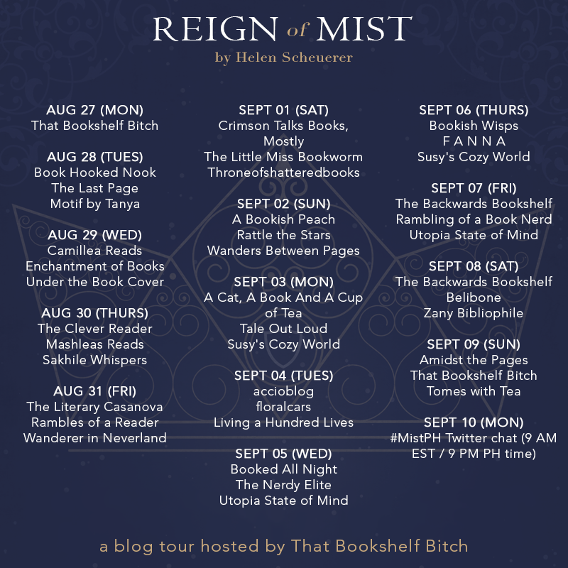 Tour Schedule (Reign of Mist)